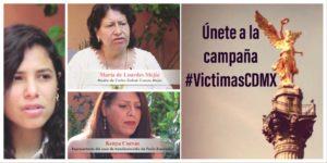 Únete a la campaña #VíctimasCDMX